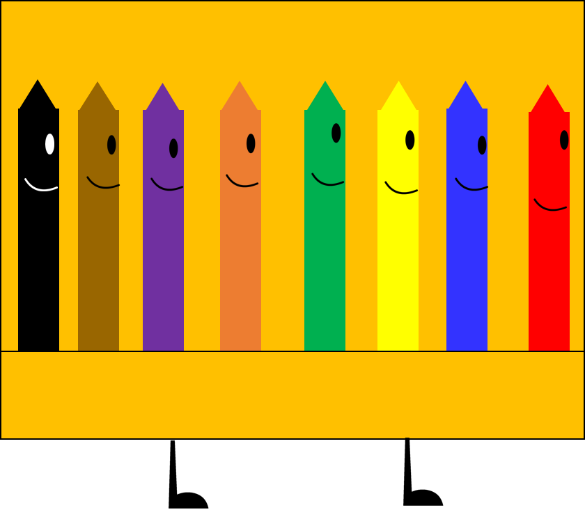 Pack Of Crayons (recommended character from BFDI) by
