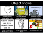 What people think about object shows