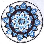 blue mood mandala