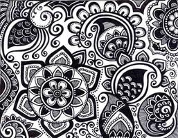 black henna like design by yael360