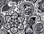black henna like design