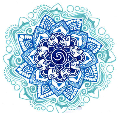 blue shades mandala by yael360