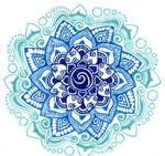 blue shades mandala