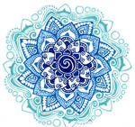 blue shades mandala