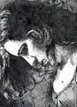 inked self portrait