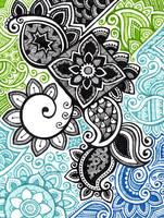 abstract black swirls into sea by yael360