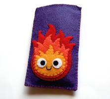 Calcifer felt gadget pouch by yael360