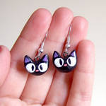 Jiji clay earrings, from kiki's delivery service