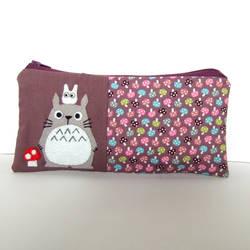 Totoro mushroom pencil case