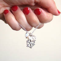 Snow white Inspired Snow flake necklace by yael360