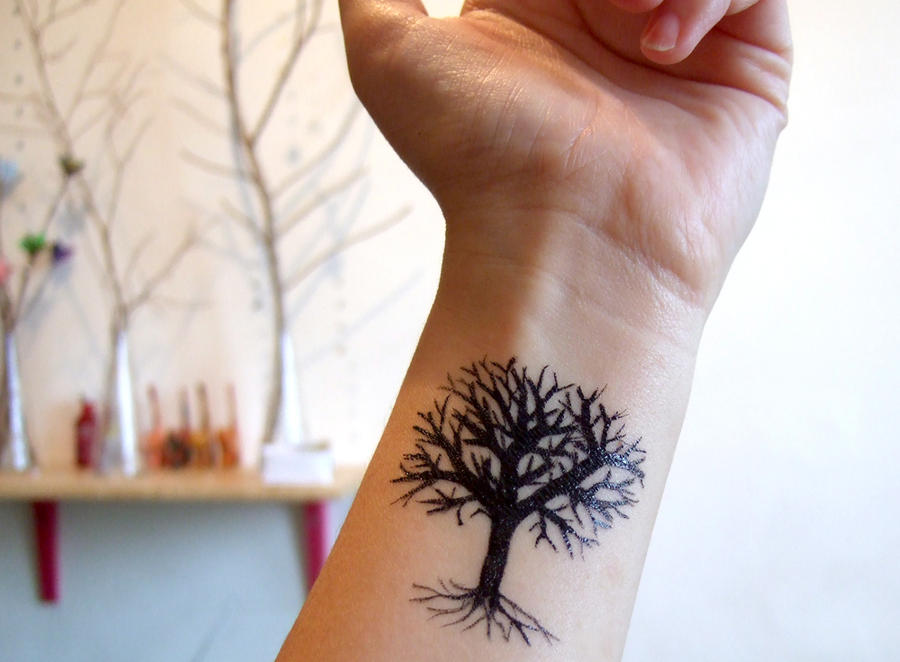 Lonely Tree tattoo by yael360