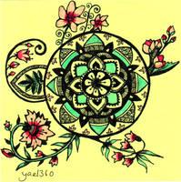 Art Nouveau Mandala by yael360