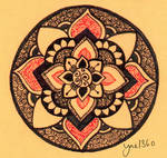 Orange Power Mandala