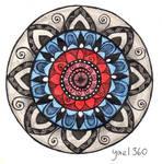 Full color bulls eye mandala