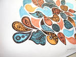 Organic zentangle design in color