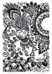 Classic henna style art by yael360