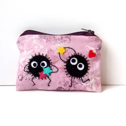Purple soot sprite adorable pouch by yael360