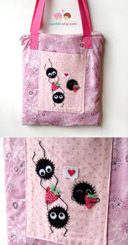 Spirited away pink soot bag