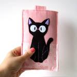 Jiji black cat smart phone case