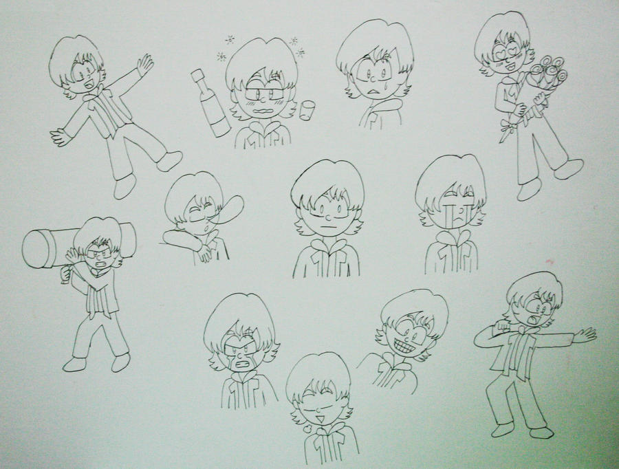Character Design Emotions : Cartooning character design emotions by setsunafseiei