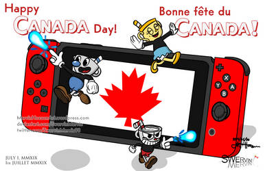 Canada Day / Fete du Canada 2019 - Cuphead by SwervinMervin