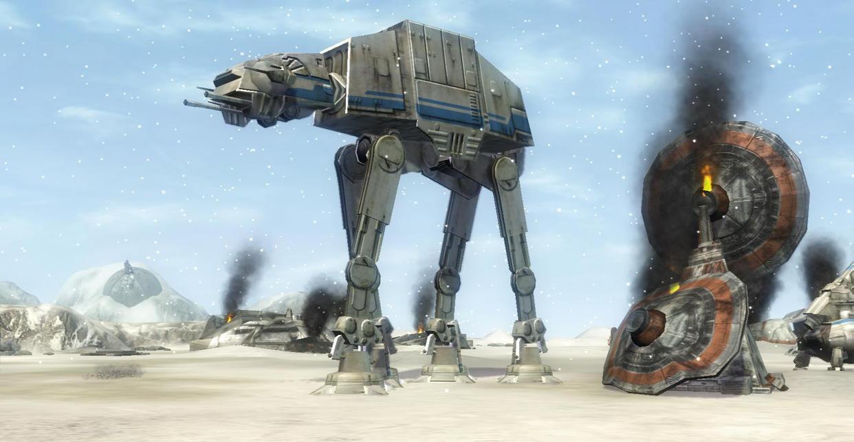 Hoth Rebel Ruins by MechaTurles