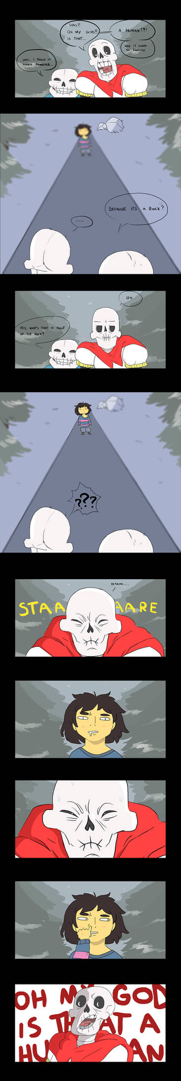 IS THAT A HUMAN (undertale comic)