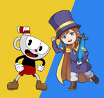 Cuphead and Hat Kid