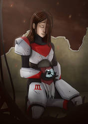 In the rubble of your home (destiny 2 fanart) by JC023