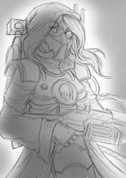 Skitarii sketch by JC023