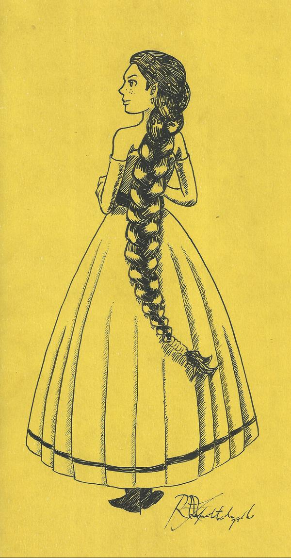 Braid on Yellow by Argamenax