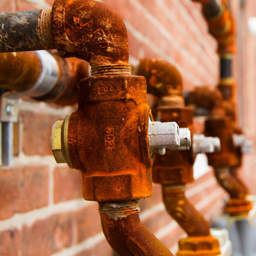 Rusty Pipes by JennDixonPhotography
