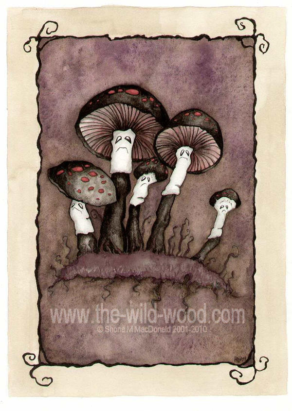 Spooky Toadstools by WildWoodArtsCo