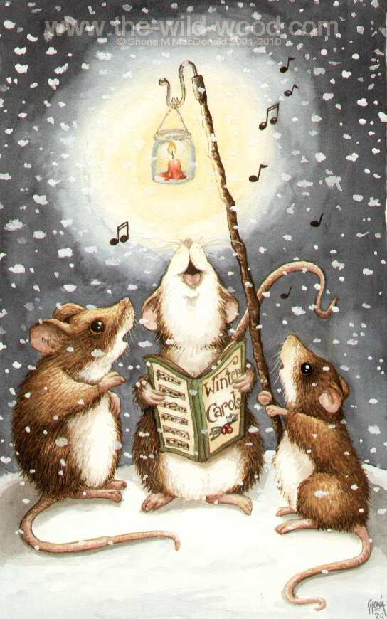Carolling Mice by pebblepixie