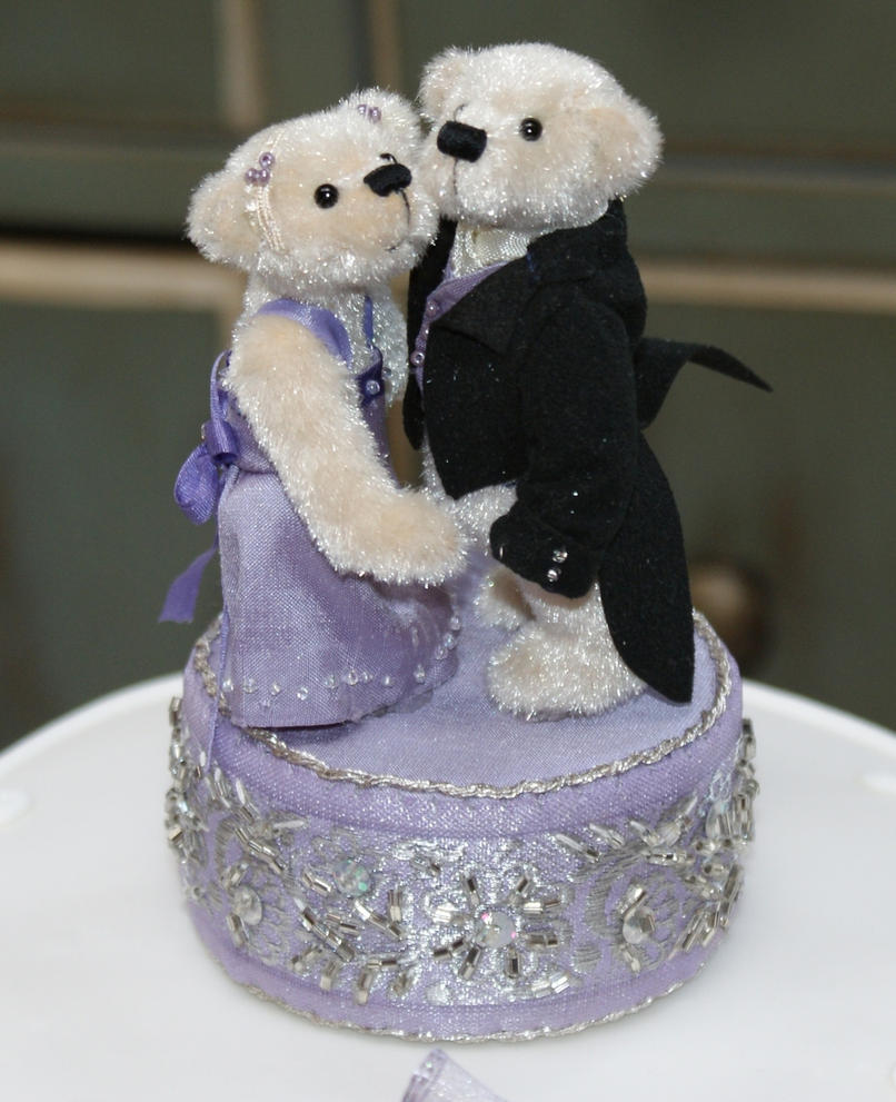 Teddy Bear Cake Topper By WildWoodArtsCo
