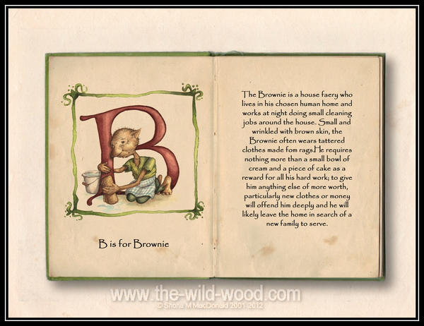 B is for Brownie by WildWoodArtsCo