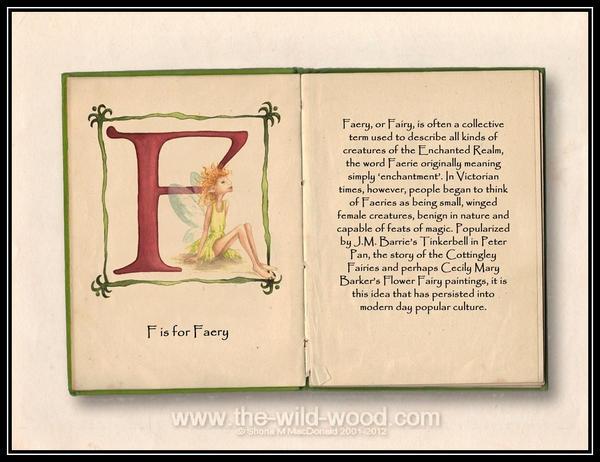F is for Faery by WildWoodArtsCo