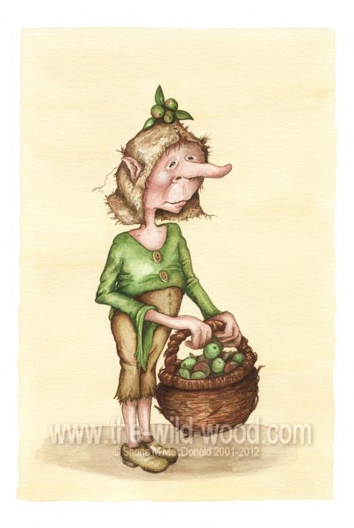 The Apple Gatherer by WildWoodArtsCo