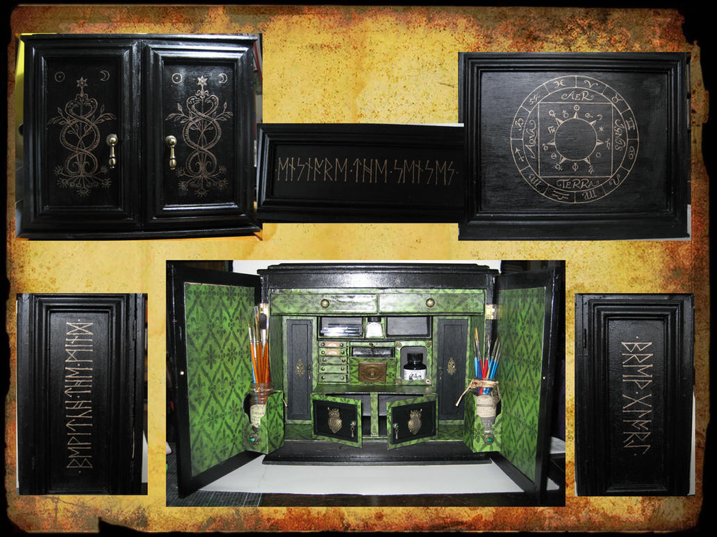 Harry Potter inspired Potions Cabinet by WildWoodArtsCo