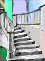 Tegaki - stairs by Zeggolisko