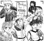 1000 hits, 1000 sketches...