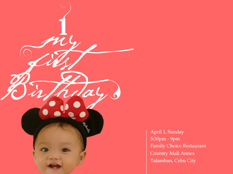 First Birthday Invitation Card by filbryant on DeviantArt