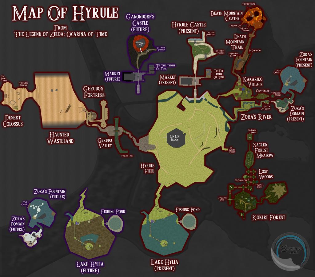 Ocarina Of Time Map By Scylez On Deviantart