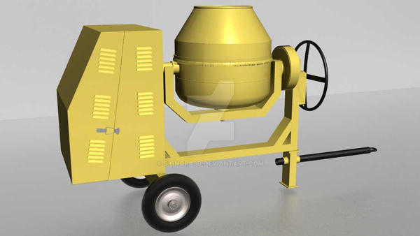 Portable-Cement-Mixer-Machinery by signora3d