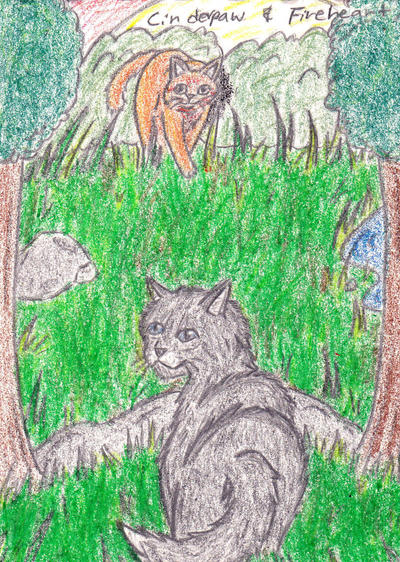 Fireheart and Cinderpaw by ScarHeart666Fireheart And Cinderpaw