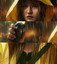 Rain: closeups by OmeN2501