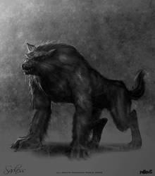 Sadness: Werewolf by OmeN2501