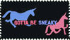 Gotta Be Sneaky Stamp by JADgirl666