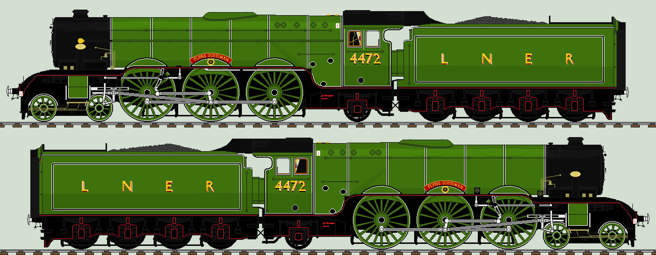 LNER A3 liveries - 4472 Flying Scotsman by 2509-Silverlink