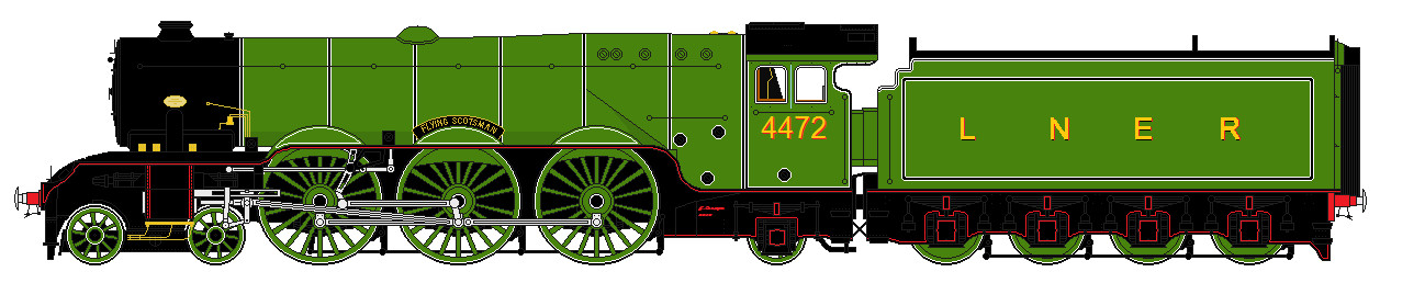 LNER A1 liveries - 4472 'Flying Scotsman' by 2509-Silverlink